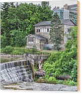 Waterfalls Cornell University Ithaca New York 04 Wood Print