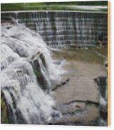 Waterfalls Cornell University Ithaca New York 06 Wood Print