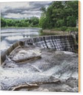 Waterfalls Cornell University Ithaca New York 07 Wood Print