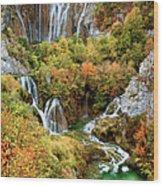 Waterfalls In Plitvice Lakes National Park Wood Print