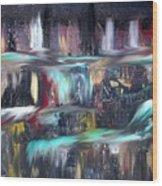 Waterfalls  Wood Print by Kelly Turner