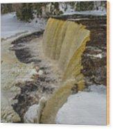 Waterfalls Upper Tahquamenon -6049 Pure Michigan Wood Print