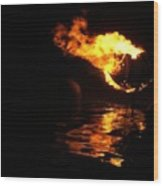 Waterfire 2007-1 Wood Print