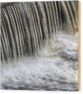 Waterflow Waterfall On A Small Creek Wood Print