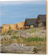Waterfront Condominiums On The Beach Of Semiahmoo Bay Wood Print