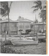Waterfront Cottages At Parmer's Resort In Keys Wood Print
