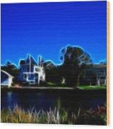 Waterfront Homes Mystic Seaport Wood Print