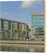 Waterfront Hotel Wood Print