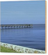 Waterfront Pier Wood Print
