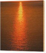 Waterfront Sunrise Wood Print