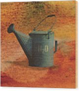 Watering Can H20 Wood Print