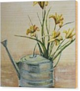 Watering Can Wood Print