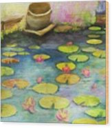 Waterlilies Wood Print by Sydne Archambault