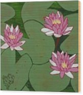 Waterlillies Wood Print
