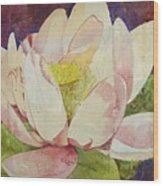 Waterlily Collage Wood Print