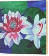 Waterlily Dance Wood Print
