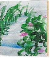 Waterlily Pond Wood Print