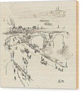 Waterloo Bridge Wood Print