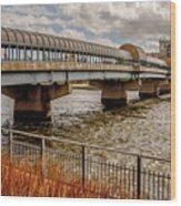 Waterloo Iowa Bridge Wood Print
