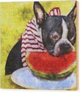Watermelon Lunch Wood Print