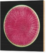 Watermelon Radish Wood Print