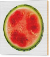 Watermelon Slice Wood Print