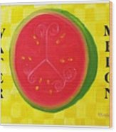 Watermelon Time Wood Print by Nathan Rodholm