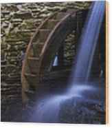 Watermill Wheel Wood Print