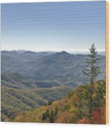 Waterrock Knob On Blue Ridge Parkway Wood Print
