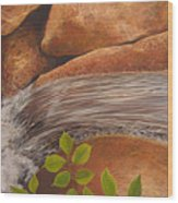 Water's Edge Wood Print by Hunter Jay