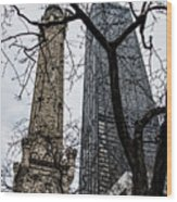 Watertower Chicago Wood Print