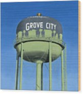 Watertower Grove City Wood Print