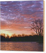 Waterville Sunrise Panorama 0002 0003 Signed Wood Print