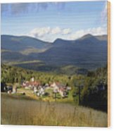 Waterville Valley Ski Area Wood Print