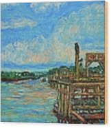 Waterway Near Pawleys Island Wood Print