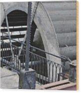 Waterwheel Detail Wood Print