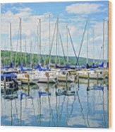 Glen Harbour Marina Wood Print