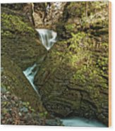 Watkins Glen Waterfall Wood Print