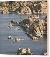 Watson Lake Adventures Wood Print