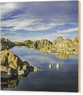 Watson Lake Panoramic 30x12 Wood Print