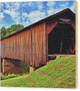Watson Mill Covered Bridge 040 Wood Print