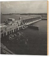 Watts Bar Dam On The Tennessee River Wood Print by Everett