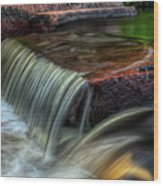 Wausau Whitewater Course Through Granite Wood Print