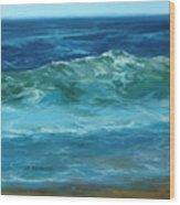 Wave Action Detail Wood Print
