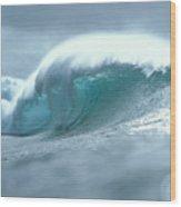 Wave And Spray Wood Print