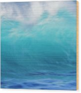 Wave And Windspray Wood Print by Vince Cavataio - Printscapes