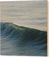 Wave Art Wood Print by Kelly Wade