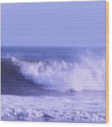 Wave At Jersey Shore Wood Print