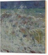 Wave At Sea Wood Print