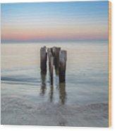 Wave Break At Sunrise. Wood Print